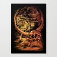 philosophy Canvas Prints featuring Philosophy by Cycoblast Artwork