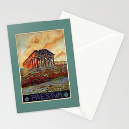 Paestum ancient Greek temple Stationery Cards