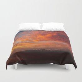 Haleakala's Colorful Sunset Duvet Cover