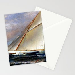 America's Cup schooner America Racing at Newport, Rhode Island by James Gale Tyler Stationery Cards