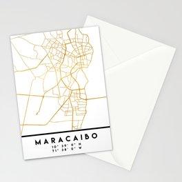 MARACAIBO VENEZUELA CITY STREET MAP ART Stationery Cards