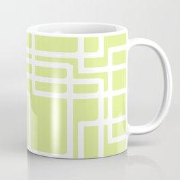 Retro Modern White Rectangles On Pale Grape Coffee Mug