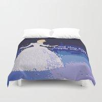 cinderella Duvet Covers featuring Cinderella  by ZeebraPrint