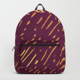 Fuchsia Golden Stripes Backpack