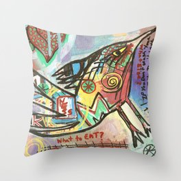 What to Eat Throw Pillow