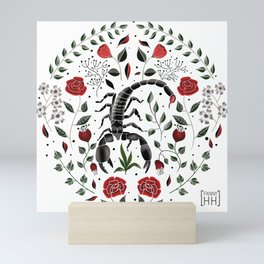 Scorpio Illustration //Zodiac Sign, Hand Drawn zodiac, Hand Drawn Scorpio, Folk Art Zodiac Mini Art Print