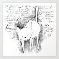 minima - deco cat Art Print