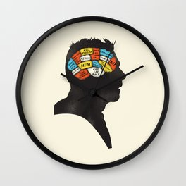 Shaun Phrenology Wall Clock