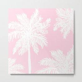 miami pink palms Metal Print