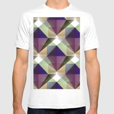Facets 2 White MEDIUM Mens Fitted Tee