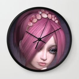 Unreachable roses Wall Clock