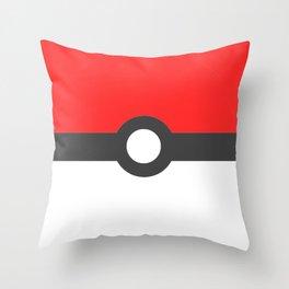 Minimalist Pokeball Throw Pillow