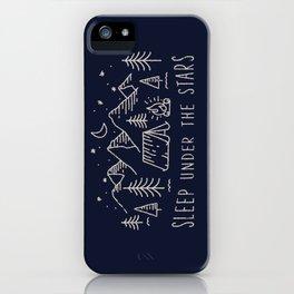 Sleep under the stars iPhone Case