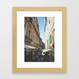 Venice Alley Shops. Framed Art Print