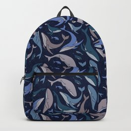 A school of whales Backpack