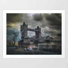 Tower Bridge in Infrared Art Print