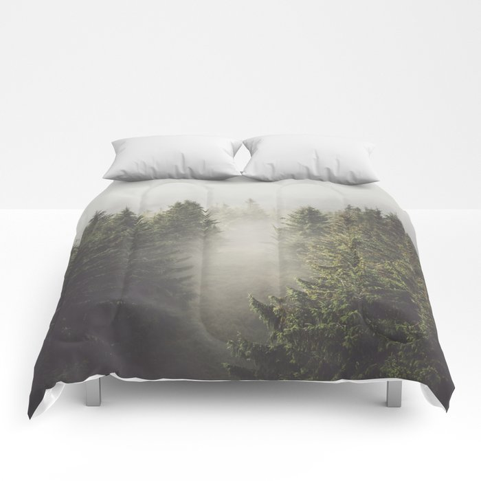 My misty way - Landscape and Nature Photography Comforters