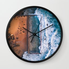 Natural swimming pool Wall Clock