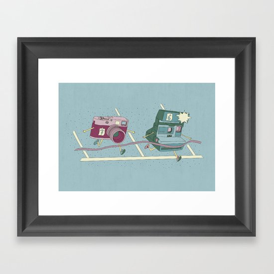 Photo Finish! Framed Art Print