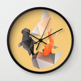 Butterfly Tail Goldfish. Wall Clock