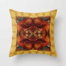 Chimera Gold & Blood Throw Pillow