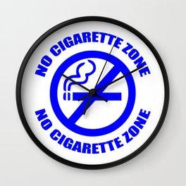 Anti-Cigarette (BLUE) Wall Clock