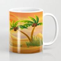 oasis Mugs featuring Oasis by Tatyana Adzhaliyska