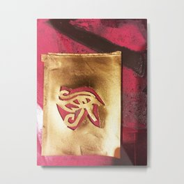 Left Eye of Horus Graffiti II Metal Print