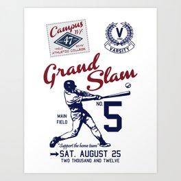 Varsity Baseball Team - Grand Slam Art Print