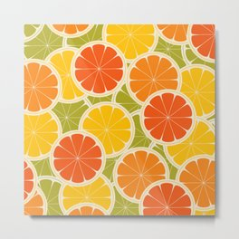 Orange, lemon and grapefruit Metal Print