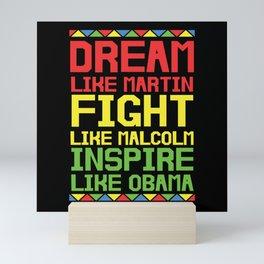 BLM Black Equality Freedom Mini Art Print