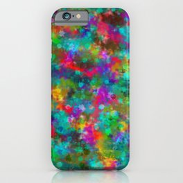 Colourful Bohemian Ink Pattern iPhone Case