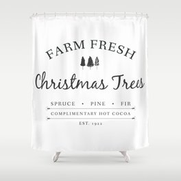 Christmas Tree Farm Art Print Gift Shower Curtain