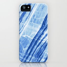 Abstract Marble - Denim Blue iPhone Case