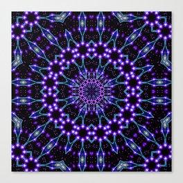 Light Structures Mandala Canvas Print