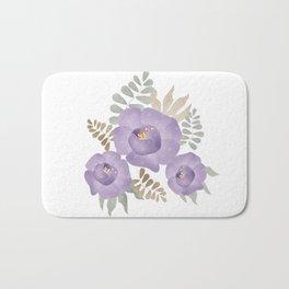 Light lilac roses. Bath Mat