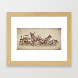 Steampunk Animals 4 Framed Art Print