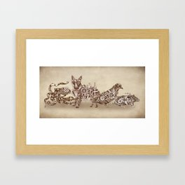 Steampunk Animals 4 Framed Art Print