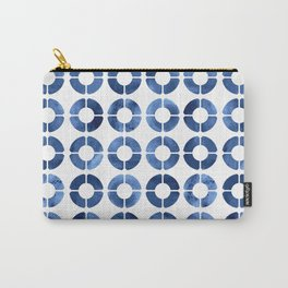Watercolor Rings - Navy Carry-All Pouch