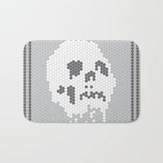 Skull Tile Bath Mat
