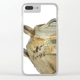 Photograph of Stoneware Teapot, Ceramic Art by Rostislav Eismont of Whipple Hill Art Collective Clear iPhone Case