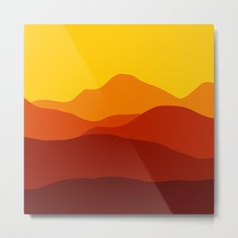 Mountains at Sunset  #society6 #decor #buyart #artprint Metal Print