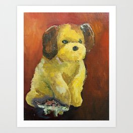 Dino and Friends Series - Pup Art Print