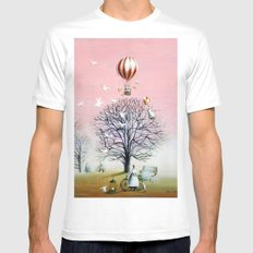 Baby's breath MEDIUM White Mens Fitted Tee