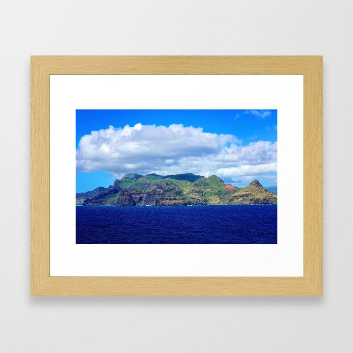 Kauai's Bright Welcome Framed Art Print