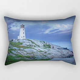 Lighthouse at Peggy's Cove in the Moonlight Rectangular Pillow