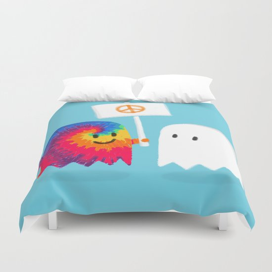 Hippie ghost Duvet Cover