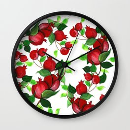 Pomegranates Wall Clock