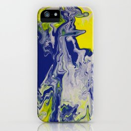 Marble Earth Pour Deux iPhone Case