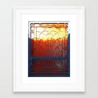 door Framed Art Prints featuring Door by aeolia